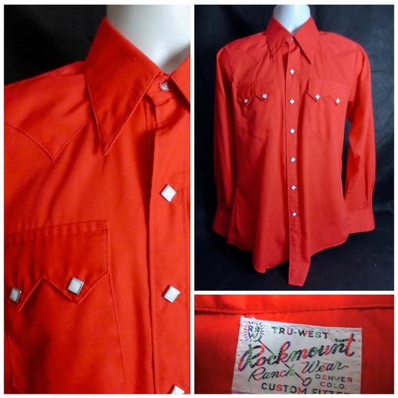 ee58f3690e8 Rockmount Ranchwear Shirts | Red Men S Western Shirt | Poshmark